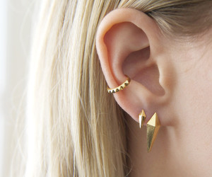 earrings, piercing, and cuff image
