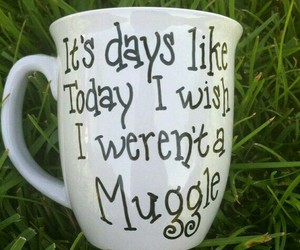 coffee, harry potter, and muggle image