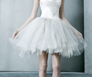 dress, white, and dance image
