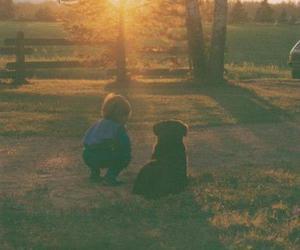 boy and dog image