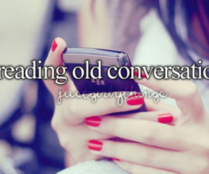 conversation, text, and old image
