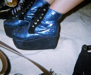 shoes, blue, and glitter image