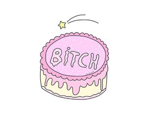 bitch, overlay, and cake image