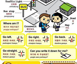 korean, language, and learn image