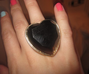 gold, heart, and nails image
