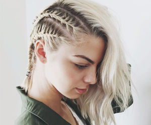 braids, white hair, and dark roots image