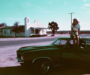 car, girl, and grunge image