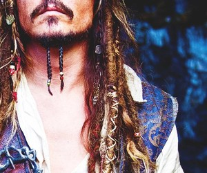 pirates of the caribbean, jack sparrow, and johnny depp image