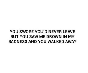 sad, leave, and sadness image