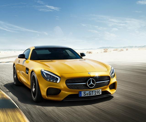 cars, mercedes, and yellow image