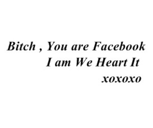 facebook, girl, and bitch image