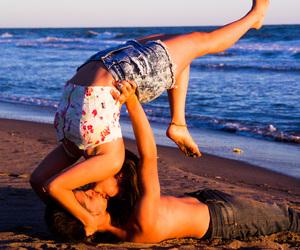 beach, kiss, and short image