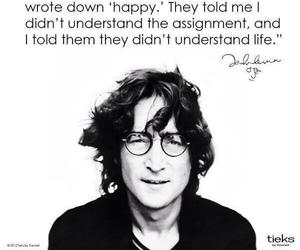 john lennon, quote, and life image