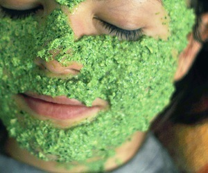 face mask and parsley image