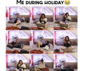 bored, funny, and holiday image