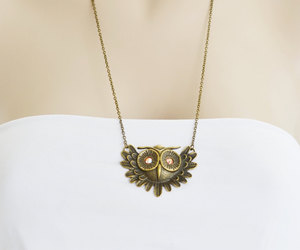 long necklace, owl jewelry, and owl necklace image