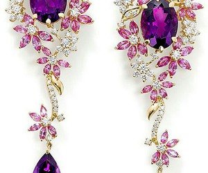jewelry, purple, and earrings image