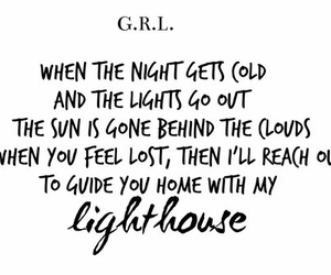 GRL, lighthouse, and quotes image