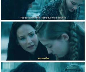 catching fire, prim, and katniss image