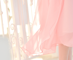 pink, dress, and pastel image