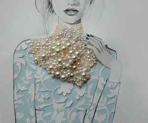 pearls, art, and fashion image