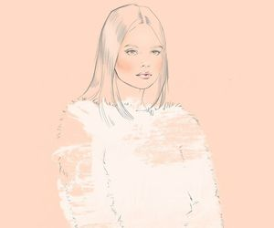 attractive, fashion illustration, and pretty image