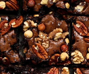 chocolate, food, and nuts image