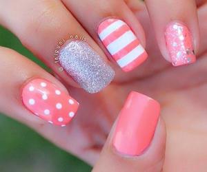 glitter, pretty, and manicure image