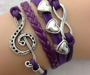 bracelet, girl, and purple image