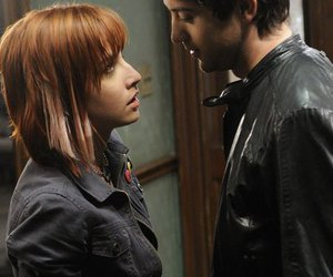 couple, leather jacket, and red hair image