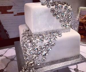 cake, diamond, and white image