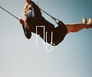 fly, girl, and free image
