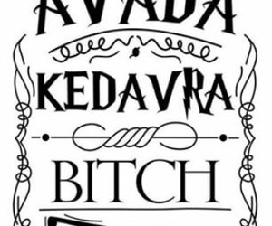 avada kedavra, harry potter, and book image