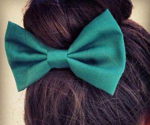 hair, bow, and bun image