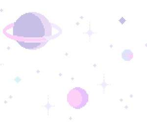 pastel, pixel, and planet image