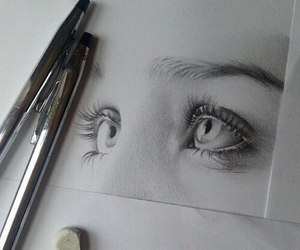 eyes, art, and drawing image