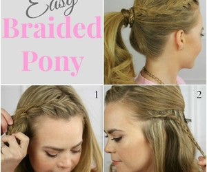 braids, Easy, and diy image