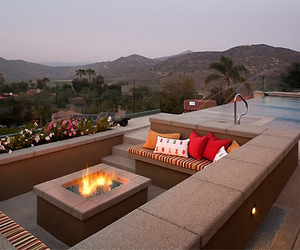 love, fire, and palms image