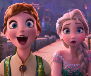 anna, disney, and elsa image