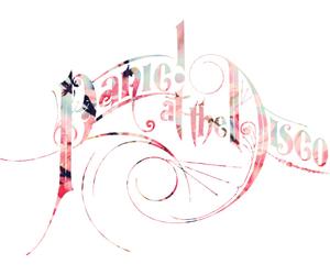 band logo, P!ATD, and panic! at the disco image