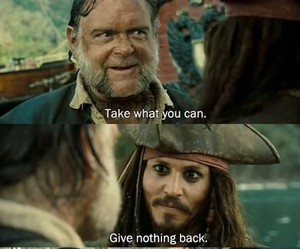 jack sparrow, pirates of the caribbean, and johnny depp image