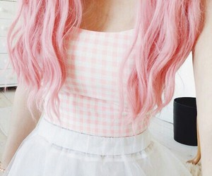 pink, hair, and pastel image