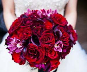 beautiful, red, and bride image