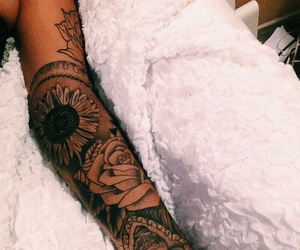 tattoo, flowers, and sleeve image