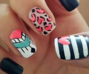 nails, tribal, and uñas image