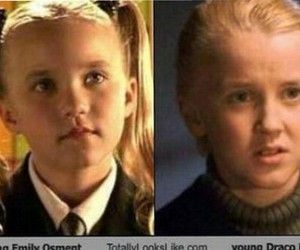 draco malfoy, emily osment, and harry potter image