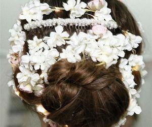 flowers, beauty, and fashion image