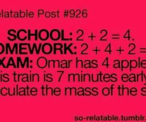 school, exam, and homework image
