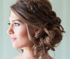 braids, girl, and updo image