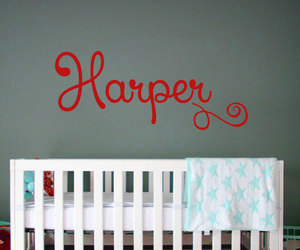 home decor, name, and wall decals image